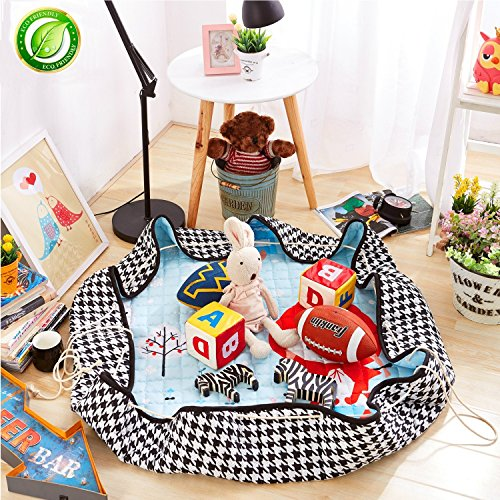 Play Red Carpet (BERENNIS Baby Kids Play Mat, Foldable Toys Storage Organizer Children Play Rugs with 60 Inches Large Diameter Soft Cotton and Washable (Little Red Riding Hood))