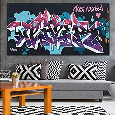 muzi928 Cartel HD Imprimir Street Art Graffiti Just Married ...
