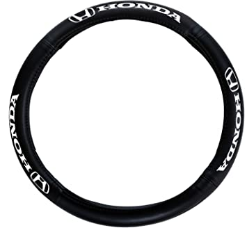 Pilot SW-161 Genuine Leather Steering Wheel Cover with Honda Logo