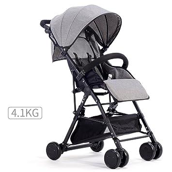 Carrito de bebé Carrito de bebé Ultra-ligero Portátil y plegable, puede sentarse y mentir Bicicleta ...
