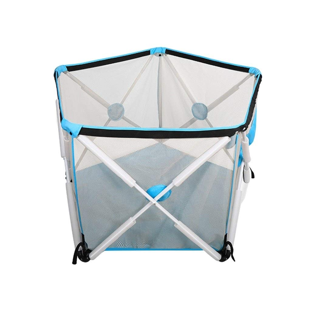 Baby playpen Foldable Children's Playpen for Children from 0-6 Years (Color : Blue, Size : D120.7 cmh68 cm) by LIL Baby playpen