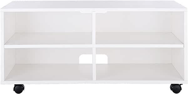 VASAGLE Mueble para TV con 4 Compartimentos y Ruedas, Mesa Baja ...