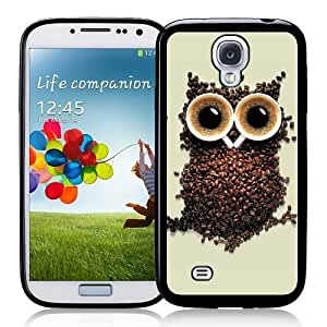 Cool Painting Galaxy S4 Case - S IV Case - ;Coffee Owl Samsung Galaxy i9500 Case Snap On Case