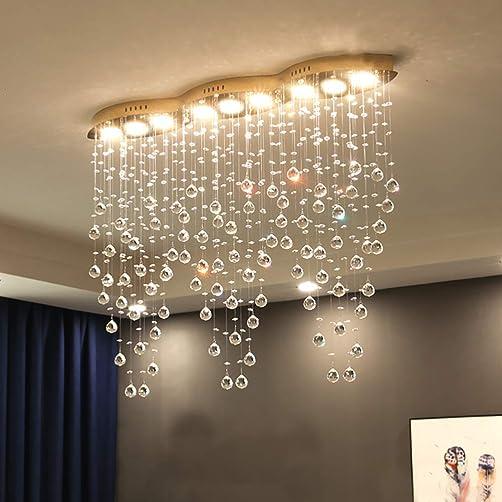 APBEAM Modern Crystal Raindrop Chandelier Flush Mount Chandelier Crystal Ceiling Light
