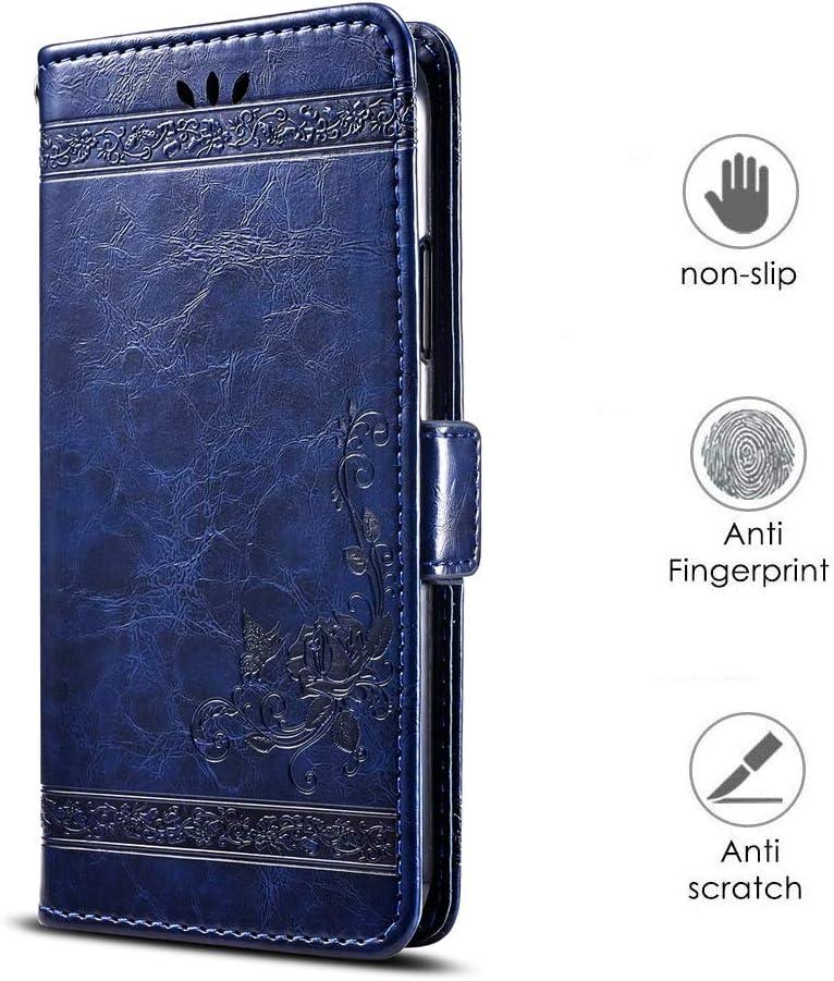 Huawei Honor 8X Max Coque Etui en Cuir avec Support Carte Slot Portefeuille Housse Anti