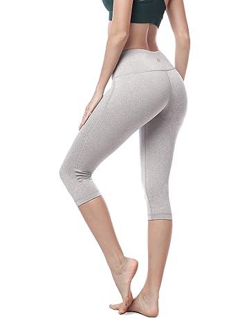 c712b5d1a5 LAPASA Damen Capri Leggings 3/4, 1&2 Pack, Sport Yoga Pants High Wasit