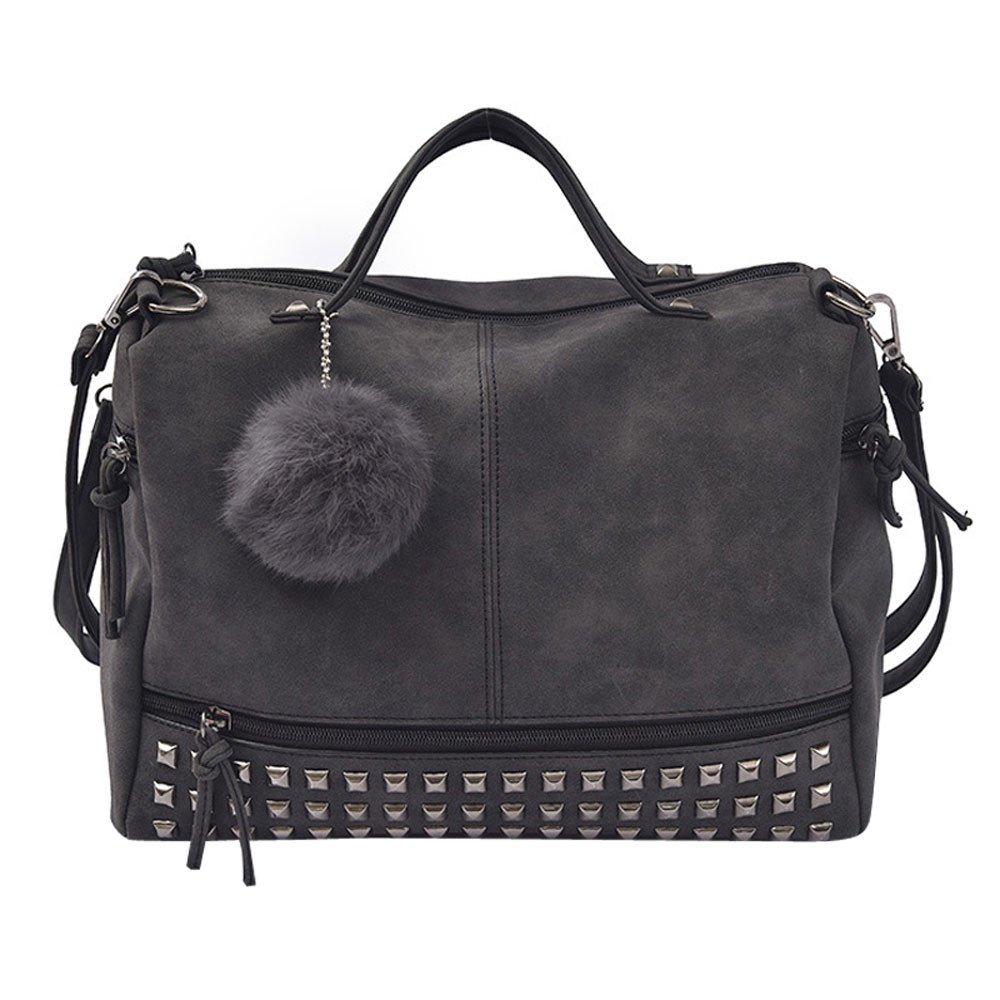 Amazon.com: Womens Fashion Shoulder Bags Ms Rivet Large Handbag g high-Capacity Ladies Luxury Bag Design Crossbody: Kitchen & Dining