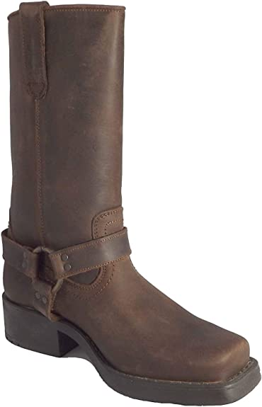 Gringos High Harley Cowboy Western Mens Tall Leather Pull On Heeled Boots UK6-12