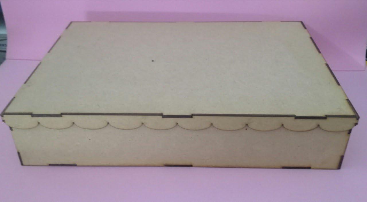 Manualidades con madera. Caja de madera DM para pintar y decorar ...