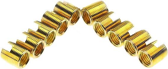 20 St/ücke 302 Kohlenstoffstahl Selbstschneidende Gewindeeinsatz Schraube Buchse Reparatursatz Gewinde Reparatureinsatz Inner M12*1.75 Outer M16*1.5