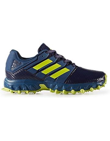 Adidas Lux Junior Zapatos de Hockey Aire Libre para niños (Azul/Amarillo)