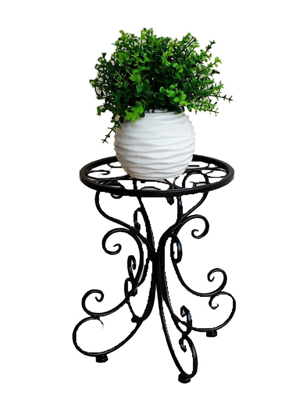 Jiniriiuirhinibdsbu Europäische Schmiedeeisen-Blumen-Regal-stehender einzelner Topf-Blumen-Rahmen-Wohnzimmer-Balkon-einfacher Blumen-Stand-Blumen-Topf-Regal, Keine Notwendigkeit zu zu zu lochen 1e4fc5