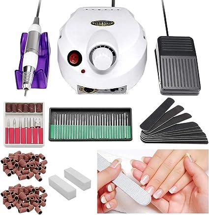 Karpal 30,000RMP Torno Para Uñas Manicura Fresa Profesional Torno Fresadora Set de Manicura y Pedicura Usos en Bricolaje: Amazon.es: Belleza