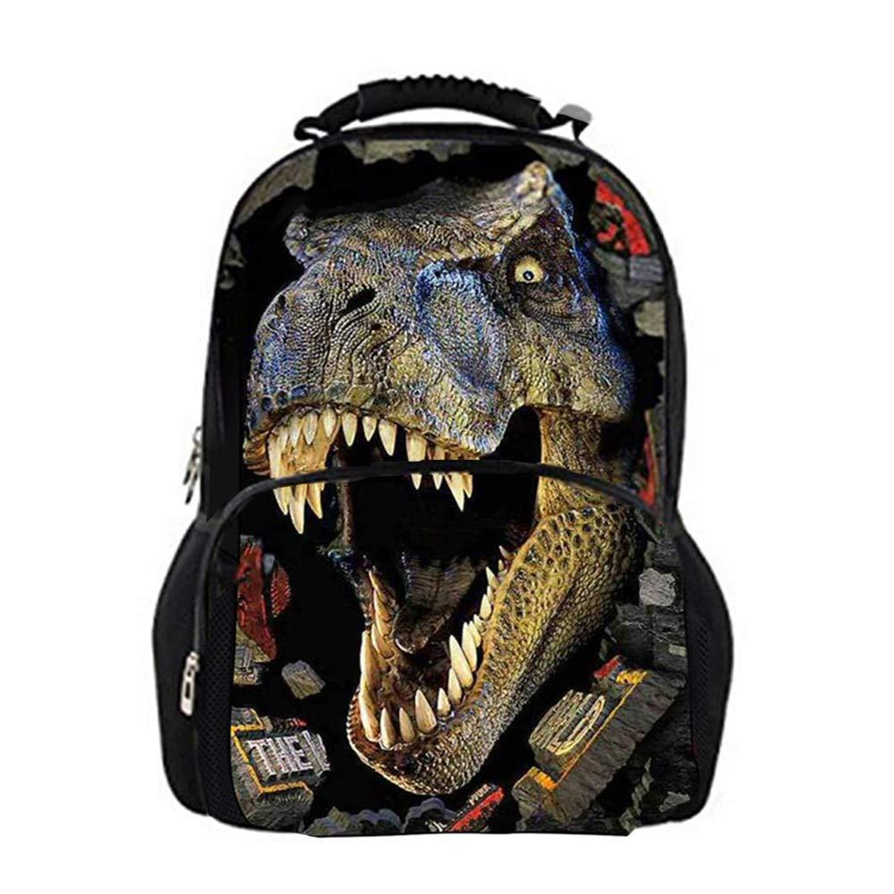 Childrens Gran dinosaurio 3d impresi/ón Mochilas De Picnic Bolsa de libros Bolsas adolescente Ni/ños Escuela