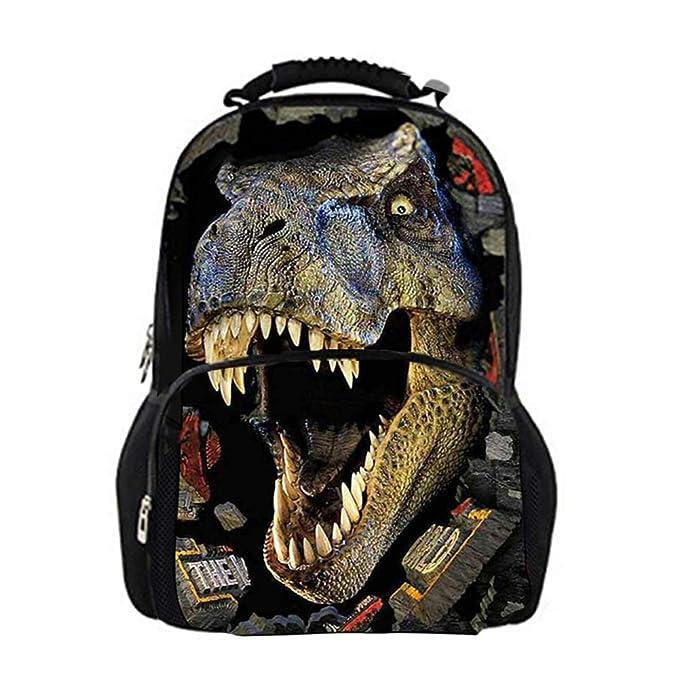 Childrens Gran dinosaurio 3d impresión Mochilas De Picnic Bolsa de libros Bolsas adolescente Niños Escuela: Amazon.es: Ropa y accesorios