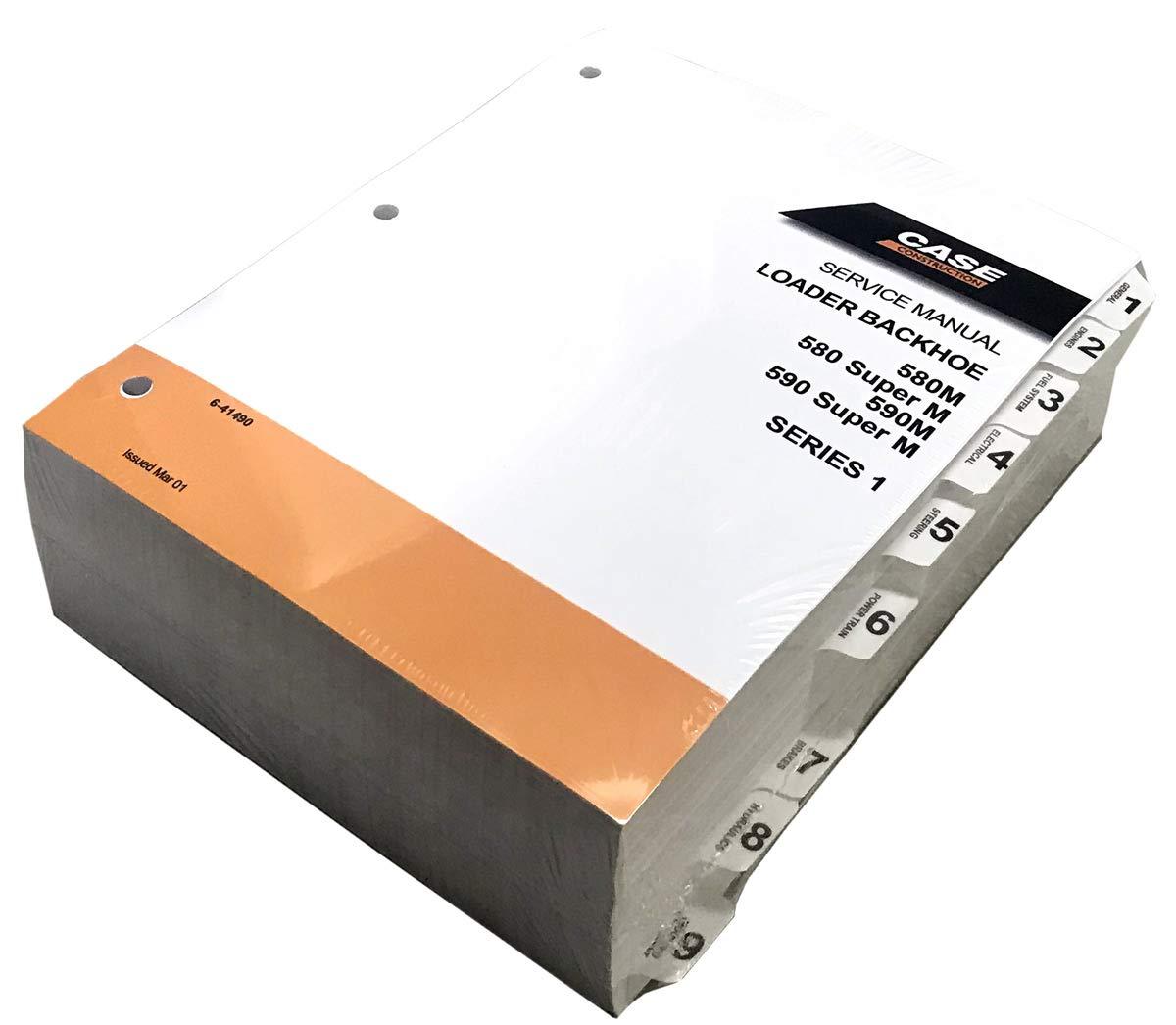 Case 580M, 590M and 580 Super M, 590 Super M Loader Backhoe Workshop Repair Service Manual - Part Number 6-41490 by Case (Image #1)