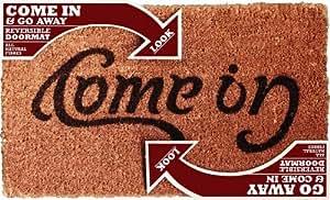 Come In Go Away Ambigram Doormat Welcome