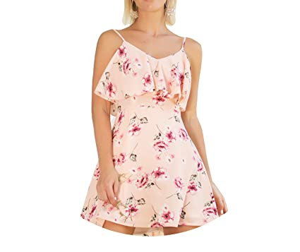 Trendy-Nicer Boho Bohemian Vestido Sexy Mini Floral Dress Casual Floral Vestidos Femme Strapless,