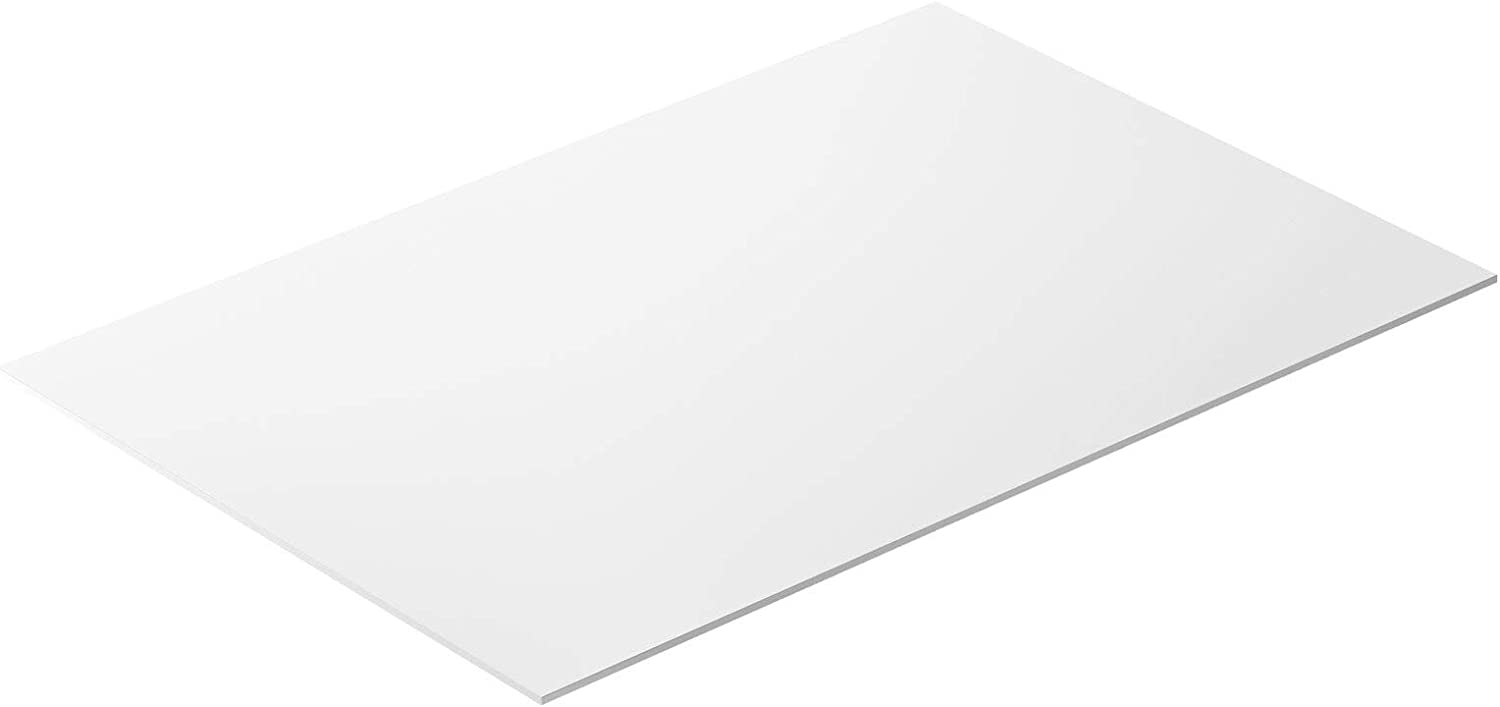White HDPE Sheet 36 x 24 Inch, 0.25 Inch Thick High Density Polyethylene