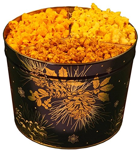 2 Gallon Popcorn Tin 1/3 Caramel 1/3 Cheese 1/3 Butter