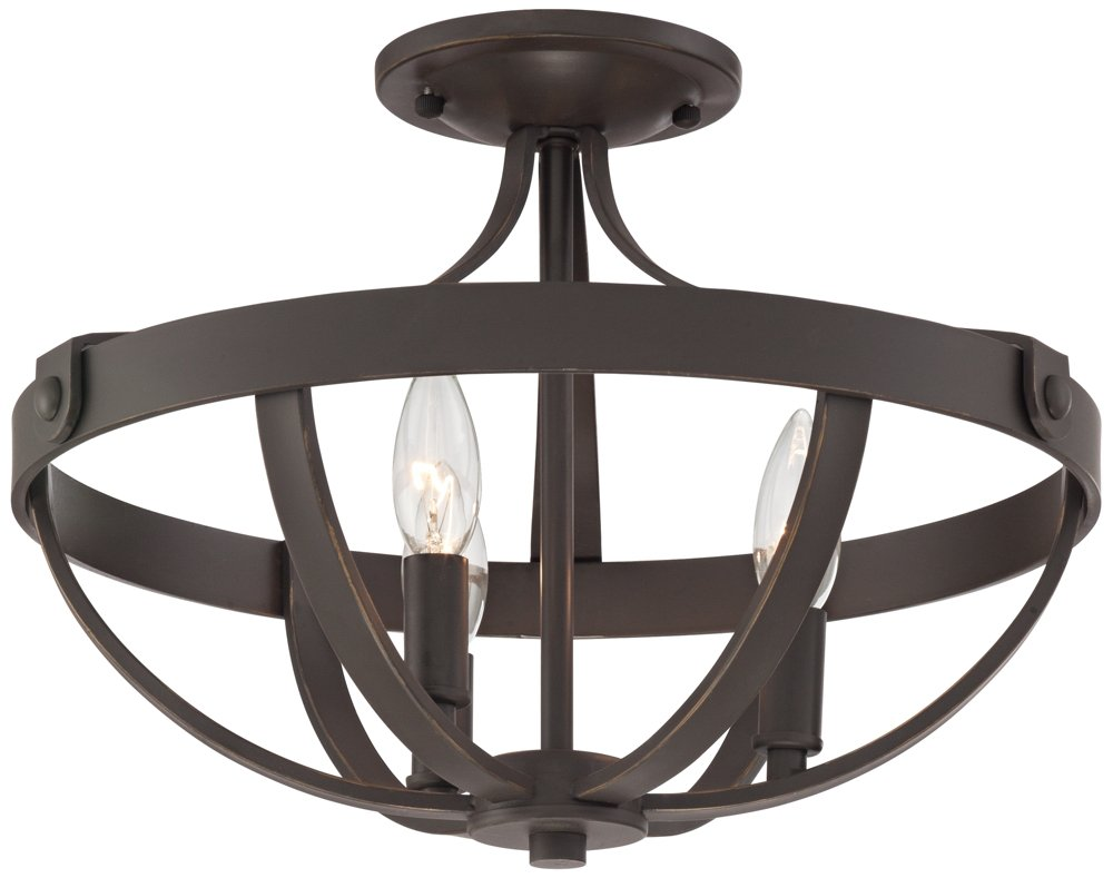 Anaya 15'' Wide 3-Light Bronze Ceiling Light by Franklin Iron Works