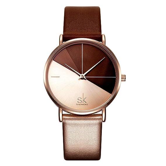 Relojes Pulsera Brillante Diamante De Imitación Cuarzo Relojes Mujer Acero Inoxidable Cuero Elegante