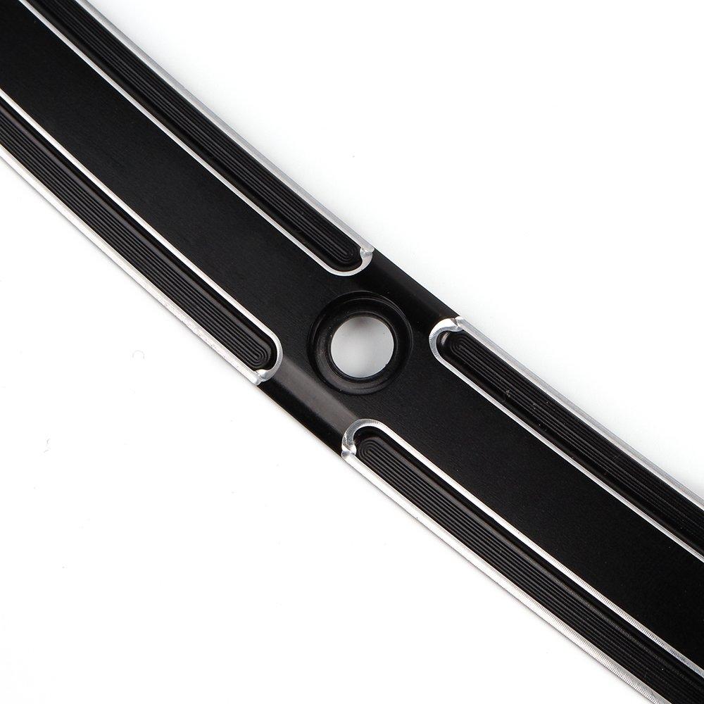 Type E Black CNC Slot Track Windshield Windscreen Wind Screen Shield Trim For Harley Electra Street Glide Ultra Limited Tri Glide Touring FLHT FLHTC FLHTCU FLHX 1996-2013
