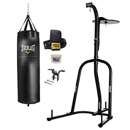 f3f370dd9 Amazon.com   Everlast - 2 Station Heavy Bag Stand (with Everlast 70 lbs. Heavy  Bag Kit)   Sports   Outdoors