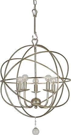 Amazon.com: Iluminación crystorama Grupo 9224 Solaris 5 luz ...