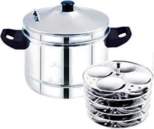 SUPER QUALITY SOUTH INDIAN IDLI COOKER 6 plates idli cooker stainless steel 6plates makes super soft 24 idlies