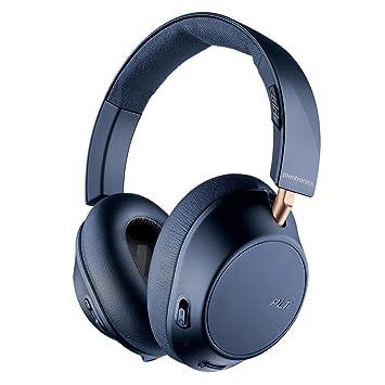 Plantronics BackBeat Go 810 Auriculares Bluetooth, Espuma con Memoria, Sobre la Oreja, Marino