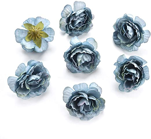 Supplies Scrapbooking  Fake Bouquet Floral Rose Artificial Peony Flower Heads