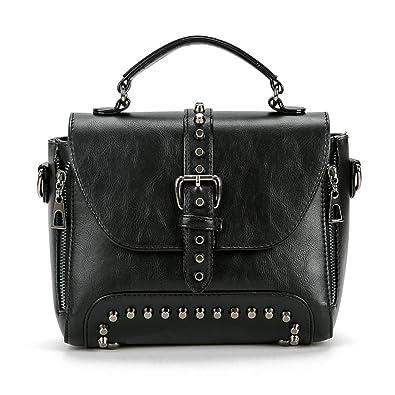 9766bf2b0 S.CHARMA New Retro Decorative Rivet Studded Women's Handbag Tote Bag Ladies  Crossbody Bag: Amazon.co.uk: Shoes & Bags