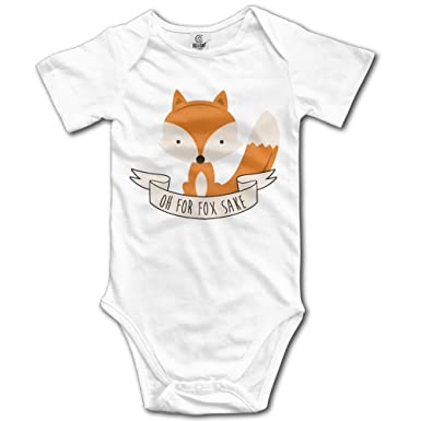 503269efd Amazon.com: Funny Vintage Unisex Oh For Fox Sake Baby Clothes Baby Boys:  Clothing