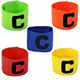 Bhivorga Adjustable Football Soccer Elastic Captain Armband for Adult and Child Pack of 5