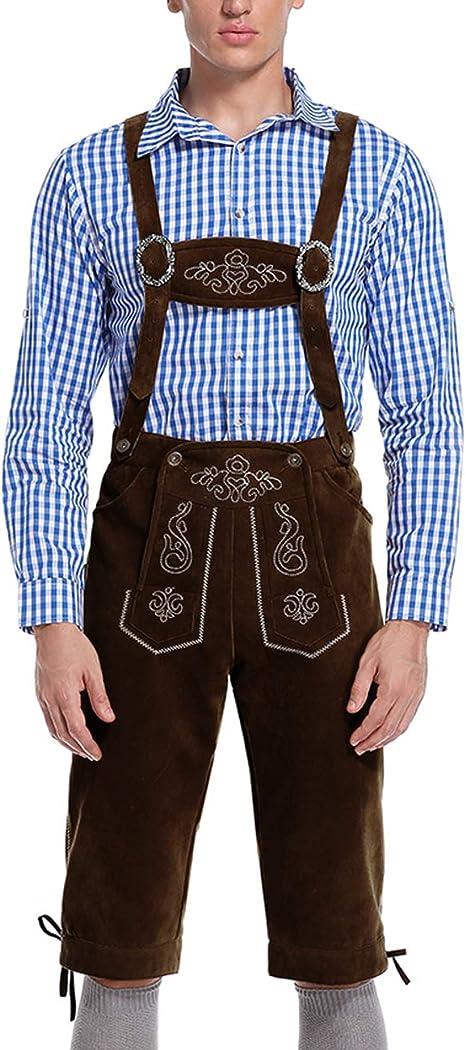 Amazon.com: GloryStar - Pantalones de piel para hombre ...