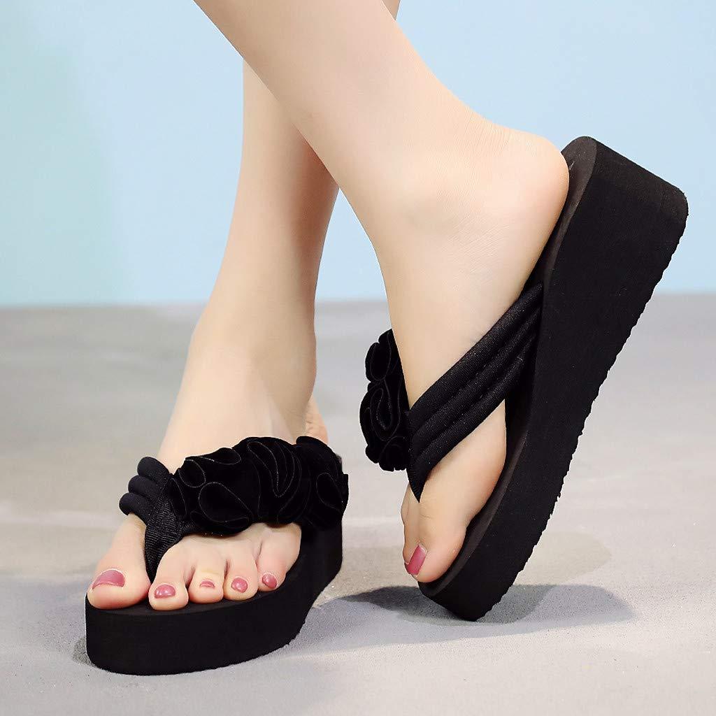 Chanclas Mujer YiYLinneo Sandalias Antideslizantes De Verano Flipflop Zapatos De Playa Calzado Sneakers Cuñas Mujer Zapatillas Lentejuelas Sandalias: ...