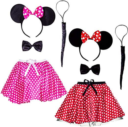 Disfraz de Minnie Mouse para mujer, color rojo: Amazon.es: Jardín