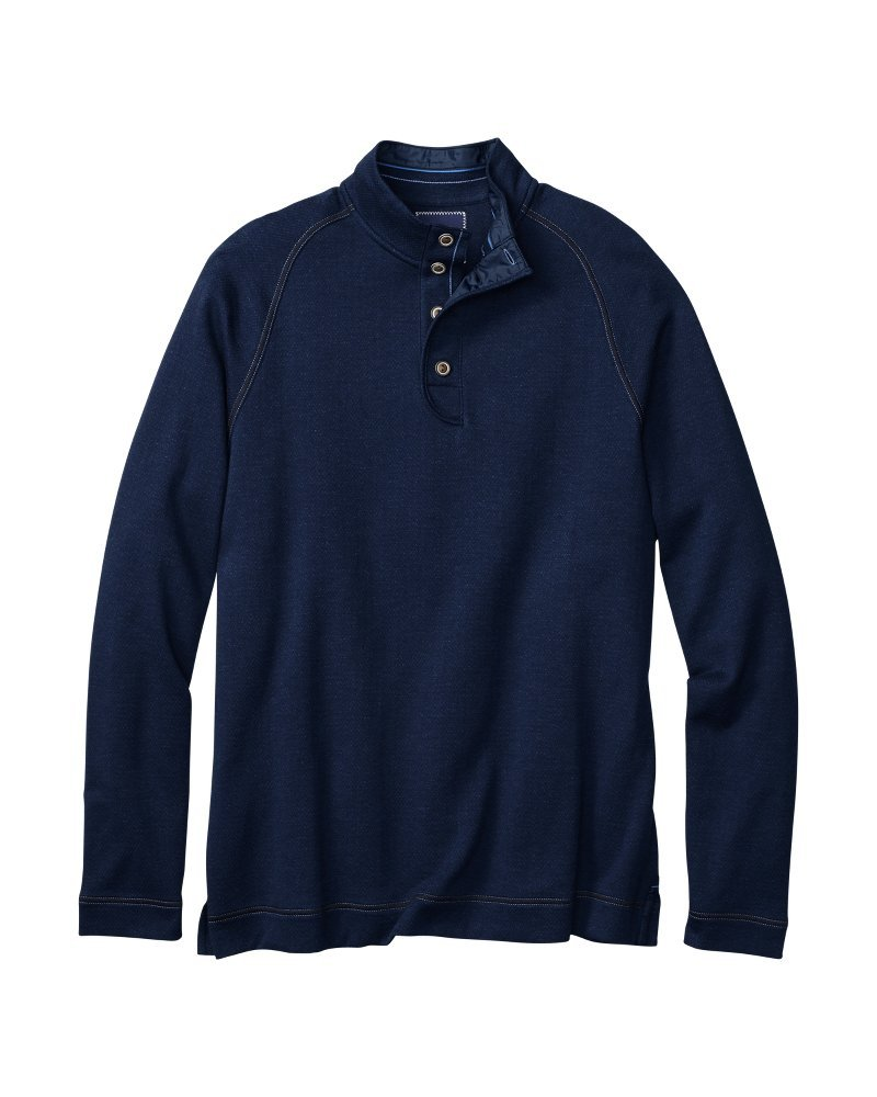 Tommy Bahama T211328 Mens Herrington Harbor Pullover  Sweatshirt, Blue Note - L