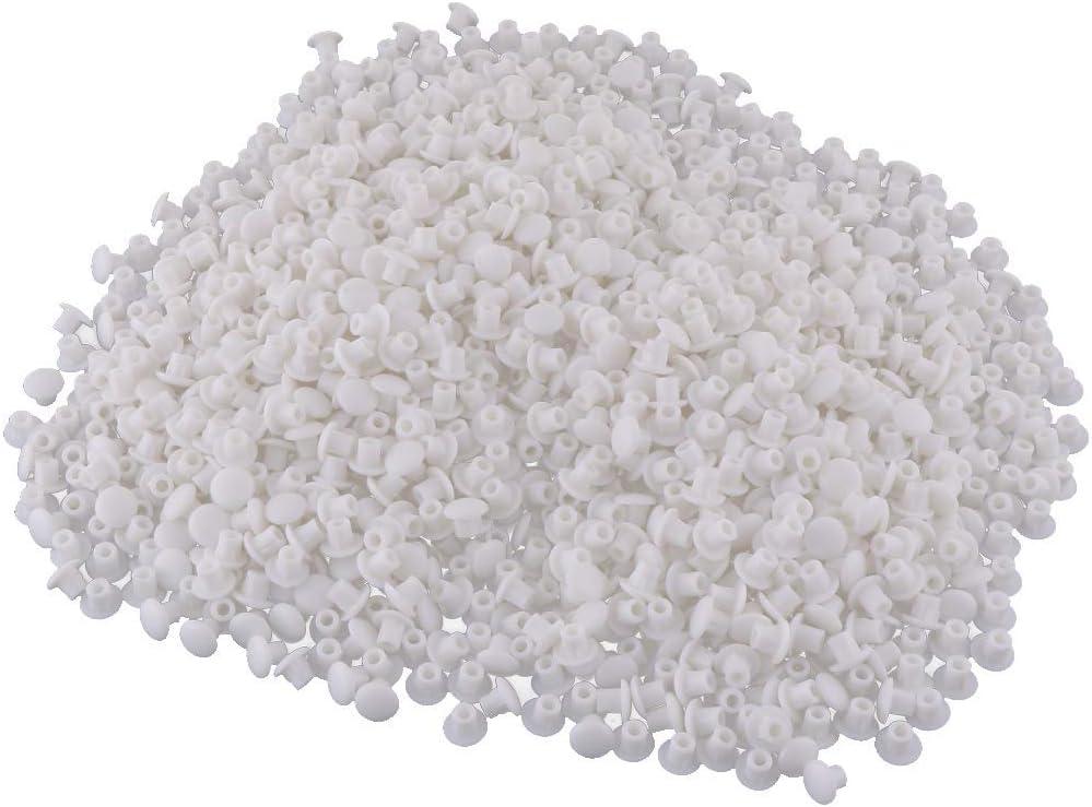 color blanco 12 mm, pl/ástico Tapones para estante Sourcingmap