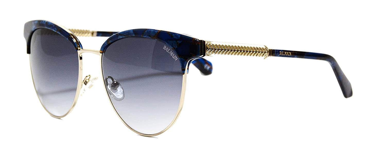 Amazon.com: Gafas de sol Balmain (BL-2519 03) azul mármol ...