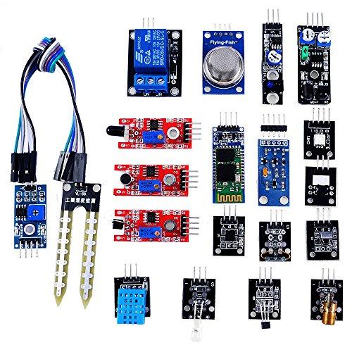 OSOYOO Sensor Kit 20 Modules for Arduino UNO R3 Mega2560 Mega328 Nano Raspberry Pi Learning Package