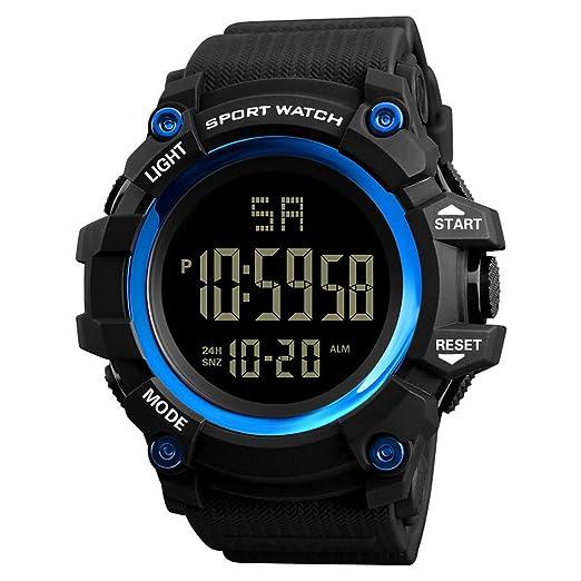 Reloj Inteligente Hombre Mujere Pulsera Actividad Reloj Deportivo al Aire Libre analógico Digital para Hombres de Lujo Reloj Deportivo a Prueba de Agua lED: ...