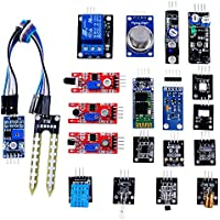 OSOYOO Sensor Kit 20 Modules for Arduino UNO R3 Mega2560 Mega328 Nano Raspberry Pi Learning Package
