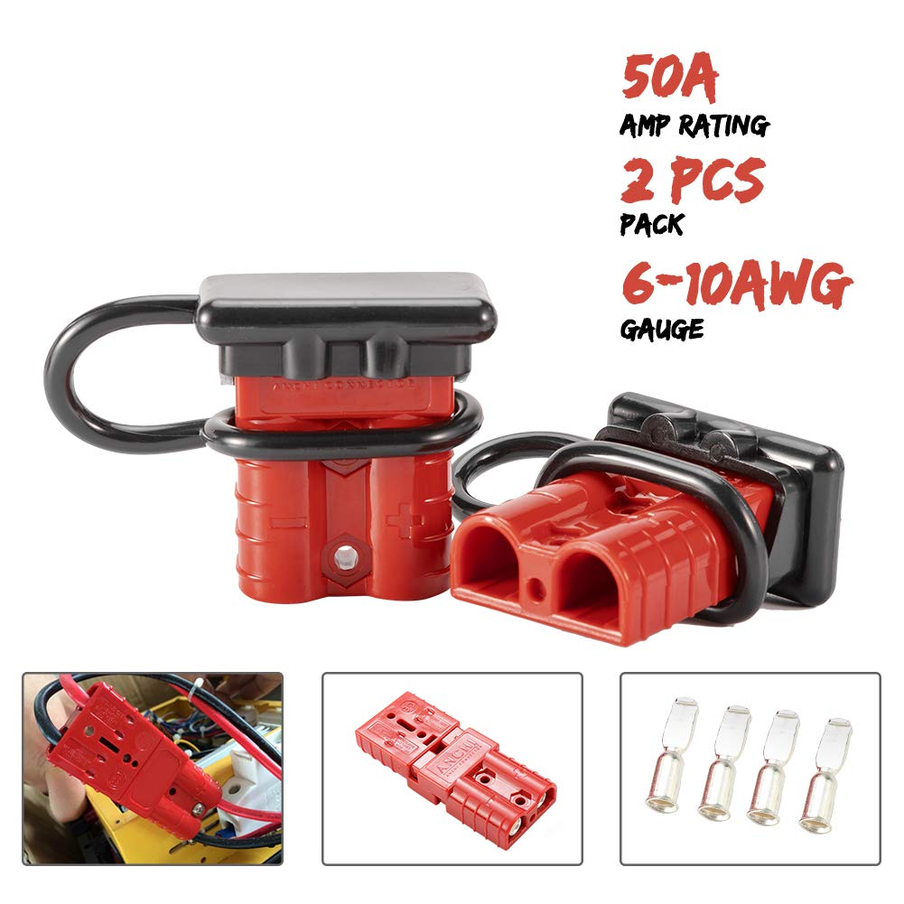 BUNKER INDUST Battery Quick Connect Wire Harness Plug Kit 175A 1//0AWG Battery Cable Quick Connect Disconnect Plug for Winch Auto Car Trailer Driver Electrical Devices,2 Pcs,Red