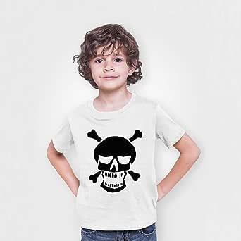 Printed Cotton T-shirt for Boys, Size 32 EU, White