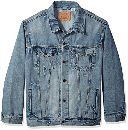 Levi's Men's Big and Tall Trucker Jacket, Spire, 3XL