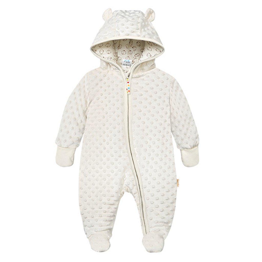 161ce3ae3c Baby Winter Fleece Overall mit Kapuze Schneeanzüge Mädchen Jungen Strampler  Spielanzug Footed Jumpsuit product image