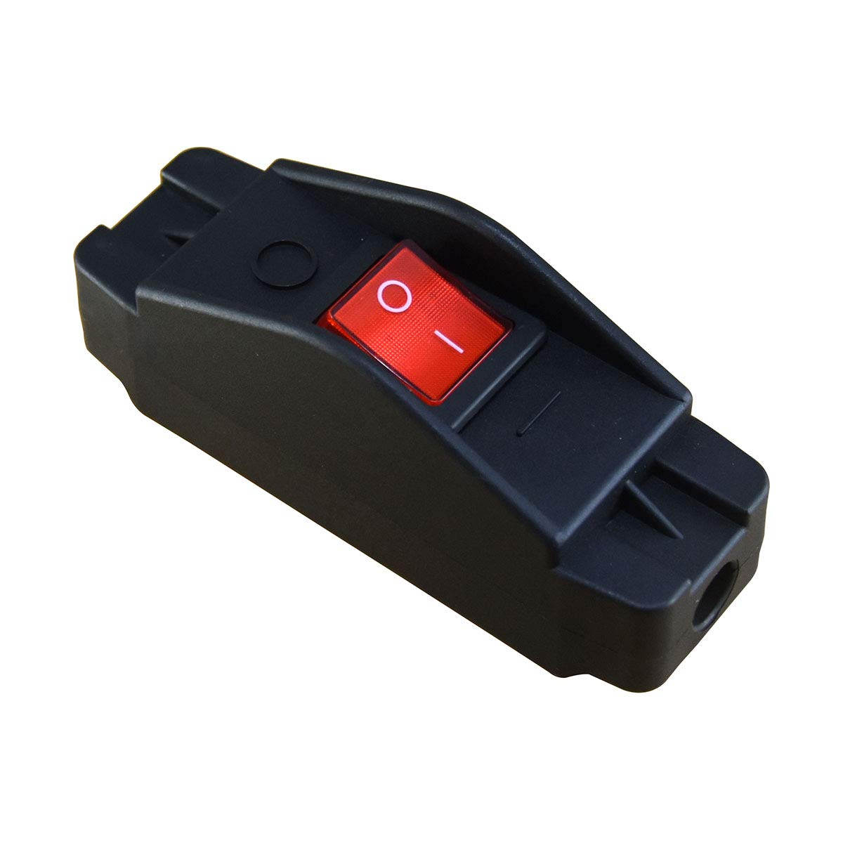 Heavy Duty Inline Cord Switch 16A 250V 20A 125V,Large Current in-Line On/Off Rocker Switch with Red Led