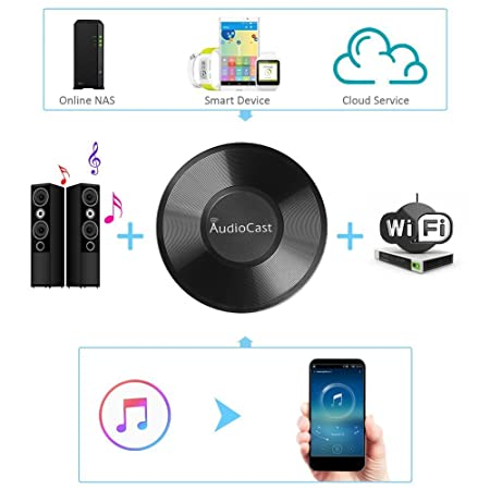 ACEMAX M5 WiFi Wireless Music Adapter Audiocast DLNA Airplay Spotify  iHeartRadio Supporting Stream Audio to Speaker Systems Over Wi-Fi Network  from